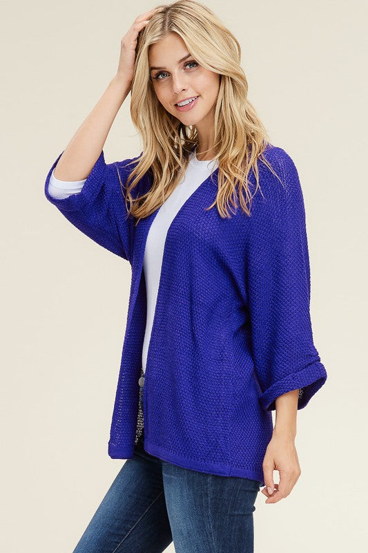 Savanna Sweater Cardigan-Royal Blue