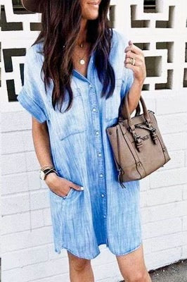 Kara Denim Shirt Dress