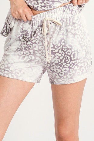 Fyona Grey Leopard Shorts