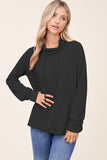 Emma Draw String Wrap Neck Top