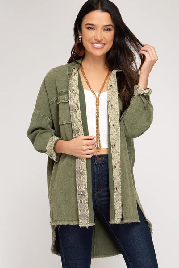 Yannie Jacket-Olive