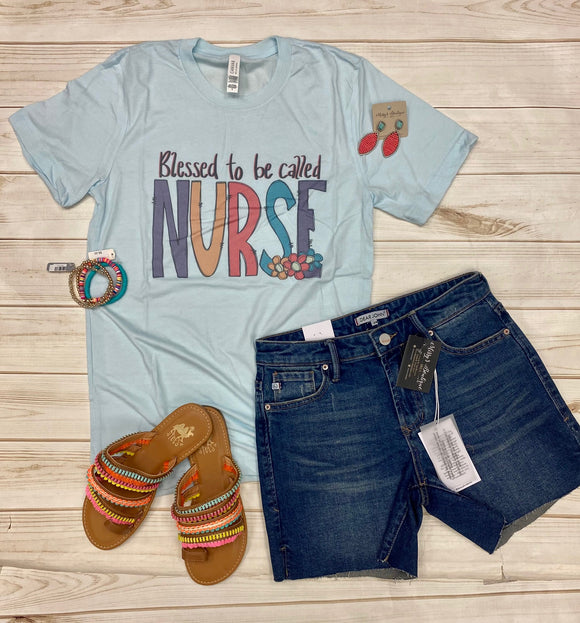 Blessed To Be Called Nurse-Sky Blue