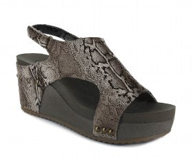 Corkys Cabot Wedge- Brown Snake