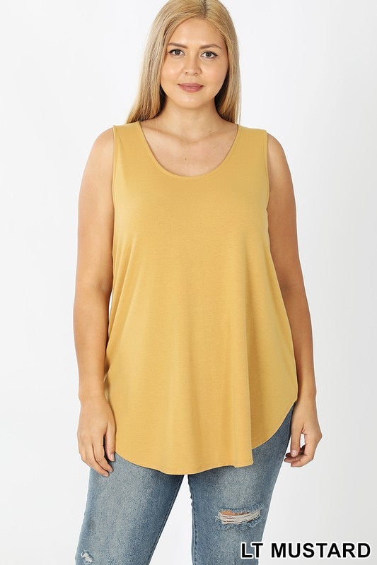 Sandy Relaxed Fit Tank Top Plus-Lt Mustard