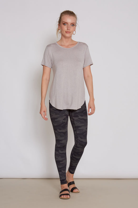 Julie Crew Neck Top-Dove