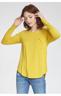 Josephine Long Sleeve-Saffron