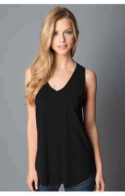 Esther Pocket Tank -Black