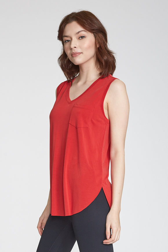 Esther Pocket Tank - Red