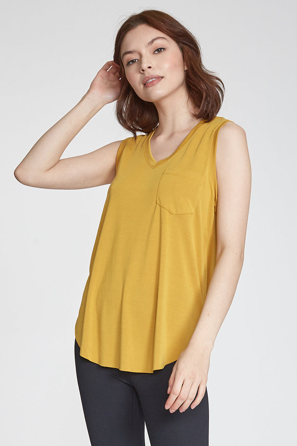 Esther Pocket Tank - Mustard