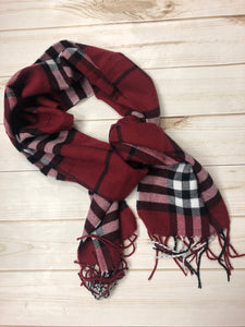 Pam Red Plaid Scarf