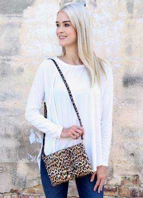 Looper Animal Print Crossbody Leopard