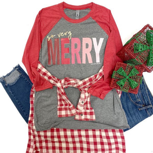 So Very Merry Raglan Tee