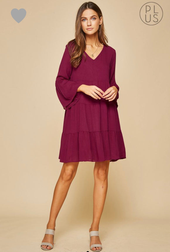 Makala Dress-Magenta-Curvy