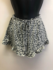 Peyton Leopard Shorts - Grey/Charcoal