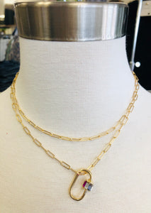 Adeline Chain Linked Layered Necklace