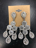 Rhinestone Earrings-Prom