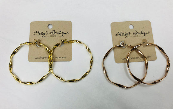 Hannah Twisted Hoop Earrings