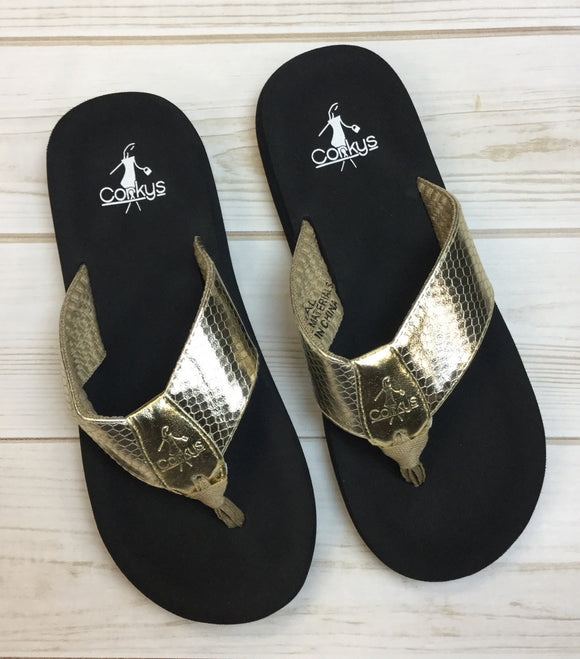 Royal Flip Flop-Gold