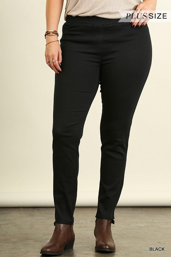 Kacey Black Jeggings-Curvy
