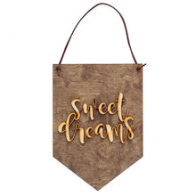 Sweet Dreams . Wood Banner - My Modern Kid