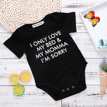 """I Only Love My Bed & My Mama"" Onesie - My Modern Kid"