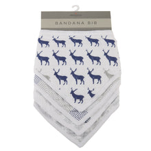 Blue Deer Bandana Bibs Set of 4 - - My Modern Kid