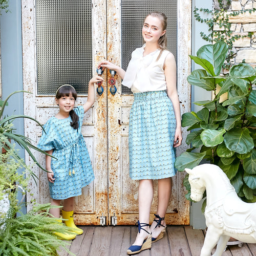 Mommy & Me- Sky Blue Dress & Skirt (Set of 2) - My Modern Kid