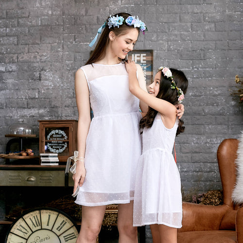 Mommy & Me (Set of 2) Ethereal Dotted Mesh Dress - My Modern Kid