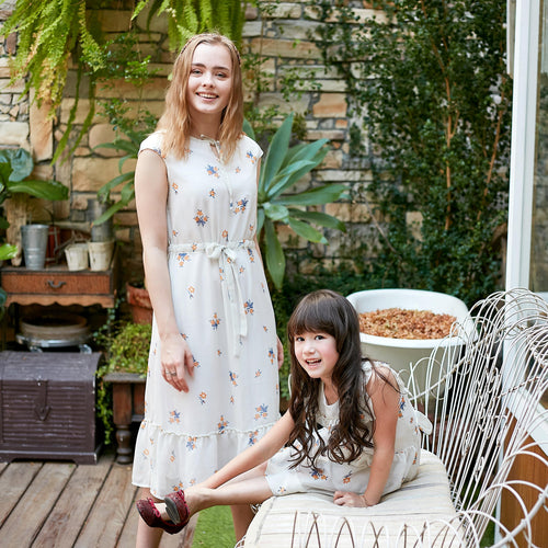 Mommy & Me- Floral Chiffon Dress (Set of 2) - My Modern Kid