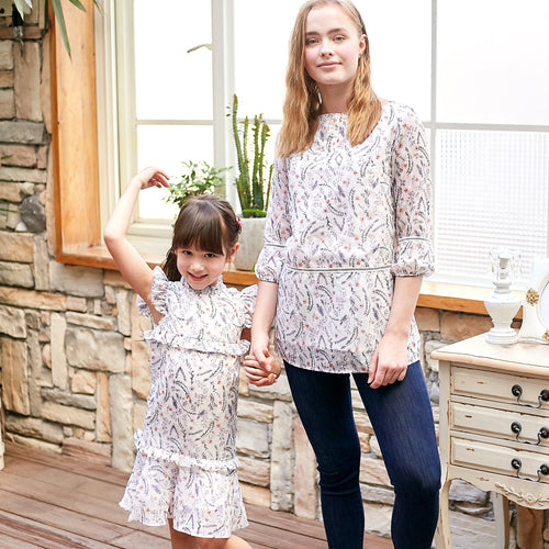 Mommy & Me-Chiffon Patterned Set (Set of 2) - My Modern Kid