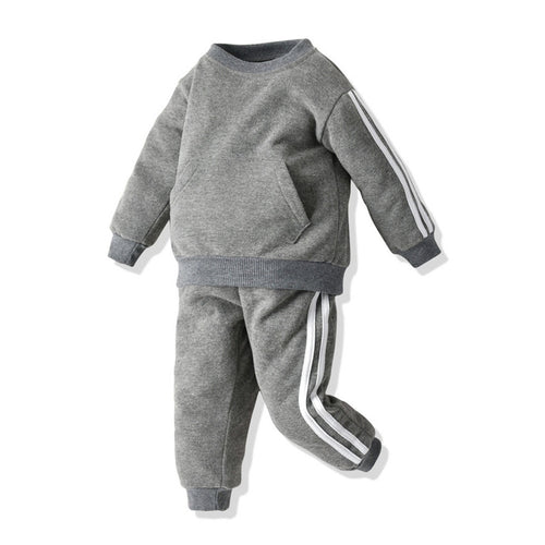 Baby Long Sleeve Striped Tracksuit Set - My Modern Kid