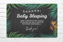 """Shhh, Baby Sleeping"" Housewarming Gift Doormat - My Modern Kid"