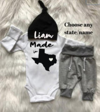 "Newborn Boy ""Name & State"" Coming Home Outfit - My Modern Kid"