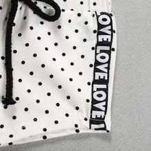 """Love"" Polka Dot Summer Hoodie Set - My Modern Kid"