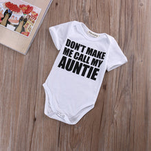 """Don't Make Me Call My Auntie"" Cotton Onesie - My Modern Kid"