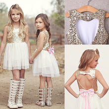 Hearts & Sequins Backless Party Dress - My Modern Kid