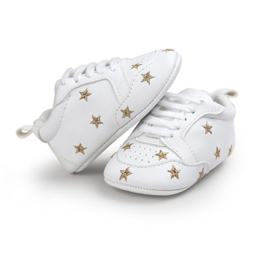 Baby Girl Stars Soft-Soled Sneakers - My Modern Kid