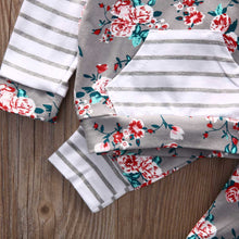 Baby Girls' Striped Hooded Floral Set - My Modern Kid