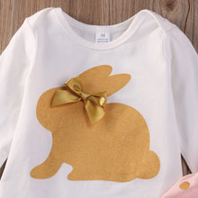 Gold Rabbit Romper 3-Piece Outfit - My Modern Kid