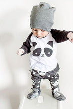 Boys Long-Sleeved Panda Print Clothing Set - My Modern Kid