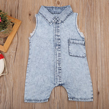 Sleeveless Denim Summer Jumpsuit - My Modern Kid