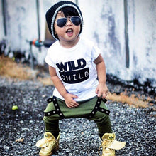 """Wild Child"" Cotton T-shirt and Harem Pants Outfit - My Modern Kid"