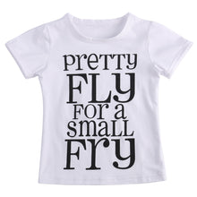 """Pretty Fly For A Small Fry"" Letter Print Clothing Set - My Modern Kid"