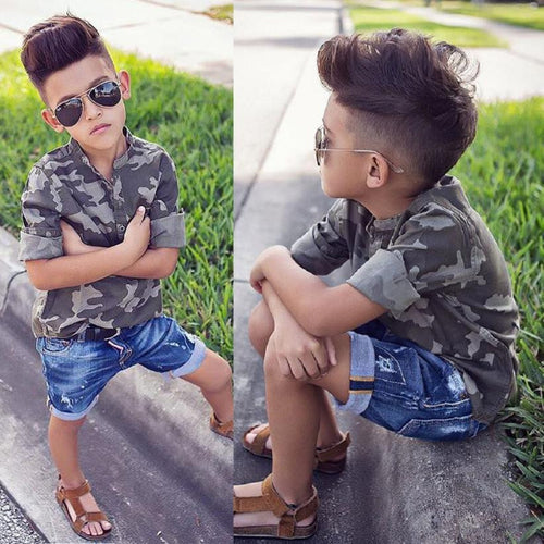 Summer In Camo 2-Piece Shorts Set - My Modern Kid