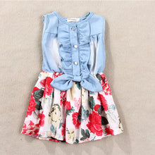 Girls Denim & Floral Dress - My Modern Kid