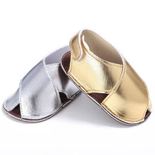 Baby Metallic Crossover Sandals - My Modern Kid