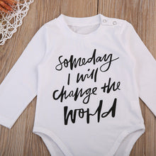 """Someday I Will Change The World"" Onesie - My Modern Kid"