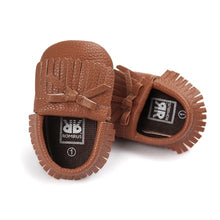 Fringe & Bows Baby Girl Leather Shoes - My Modern Kid