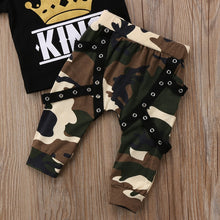 """KING"" Camouflage Harem Pant 2-Piece Outfit - My Modern Kid"