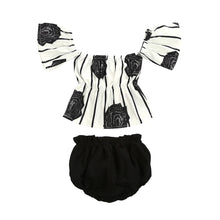 Fashion Striped Floral Blouse Summer Set - My Modern Kid